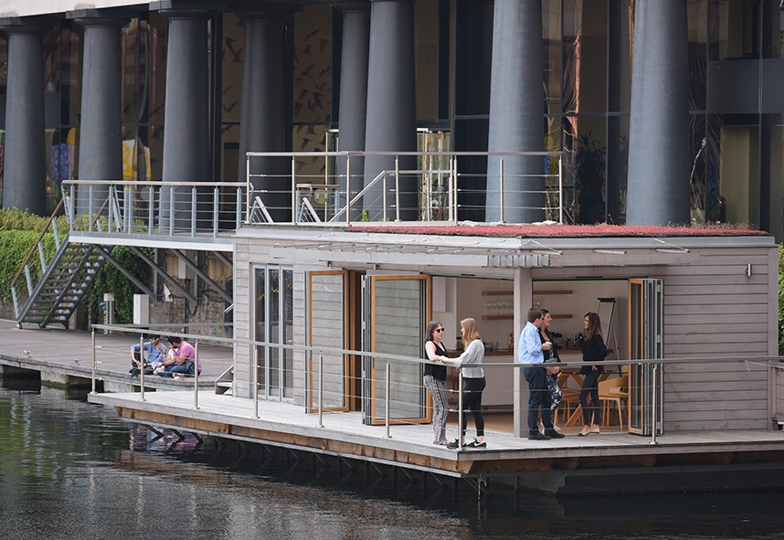 Creative Hub floating office St Katharine Docks