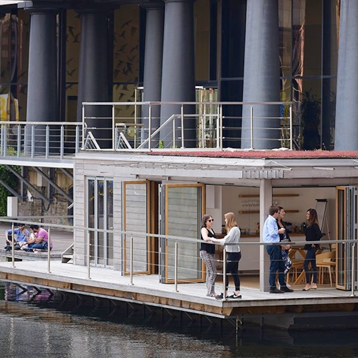 St. Katharine's Docks Floating Hub, by eco floating homes