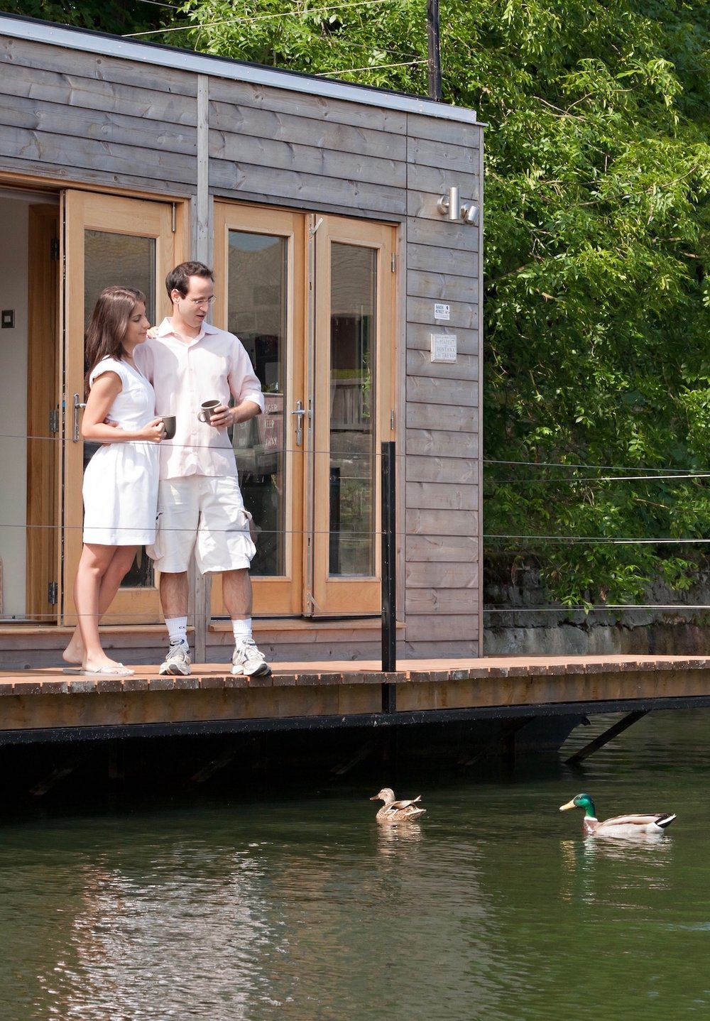 Ana and Conrado's Eco Floating Home on the Thames at Hampton
