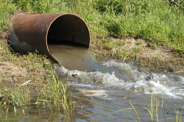 When waste water 74