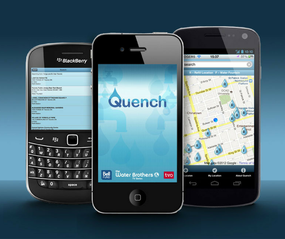 Quench - This handy water refill app from Toronto's The Water Brothers tells you where the nearest water bottle refill station or water fountain is in the Greater Toronto Area. With over 1800 refill stations registered in the GTA, Quench helps to promote municipal tap water as safe, reliable and convenient.This app fits into a Zero Waste lifestyle by helping you avoid single-use plastic water bottles. If you have trouble remembering to take your reusable water bottle with you, we recommend looking at Hydaway's collapsible cup, which can fit into a briefcase, purse or backpack with ease.