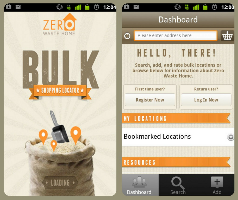 Bulk Locator - From the amazing zero waste guru and founder of Zero Waste Home comes the Bulk Store Locator. Stay away from unnecessary and wasteful packaging with this web-based app that locates bulk stores from wherever you are in the US or Canada. You can search, add and rate bulk stores, including the selection of items they have available.You can search for stores based on the specific items you are looking for and consult a guide to learn how to prepare bulk food items. The more the zero waste community uses this app, the better it will be! Get on it!