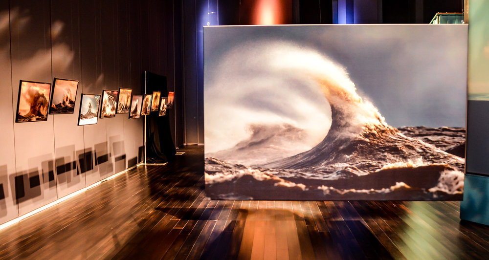 Liquid Mountains Photography Exhibit by Dave Sandford at the 2016 Water Docs Film Festival at Daniels Spectrum in Toronto