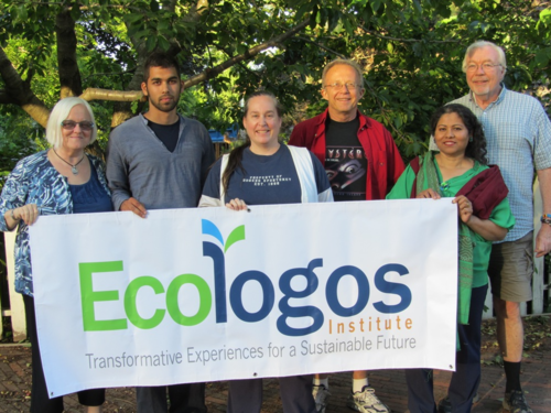 Some members of the Ecologos Design Team with founders Stan and Mariam Gibson (right side).