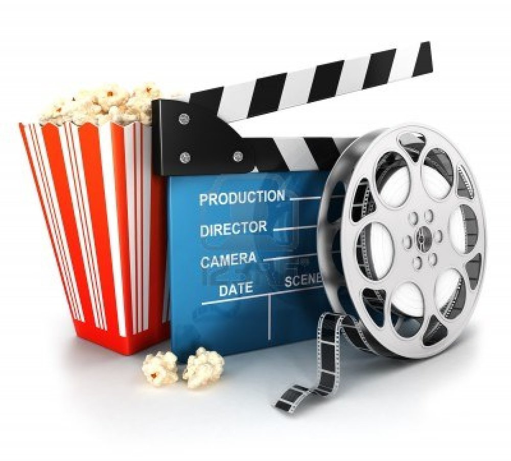 Film reel, clapper board & popcorn.jpg