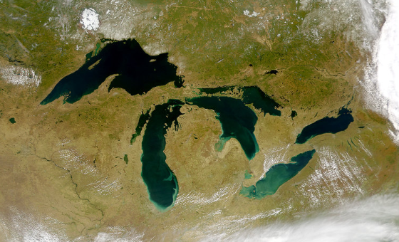 The life-giving Great Lakes from space.
