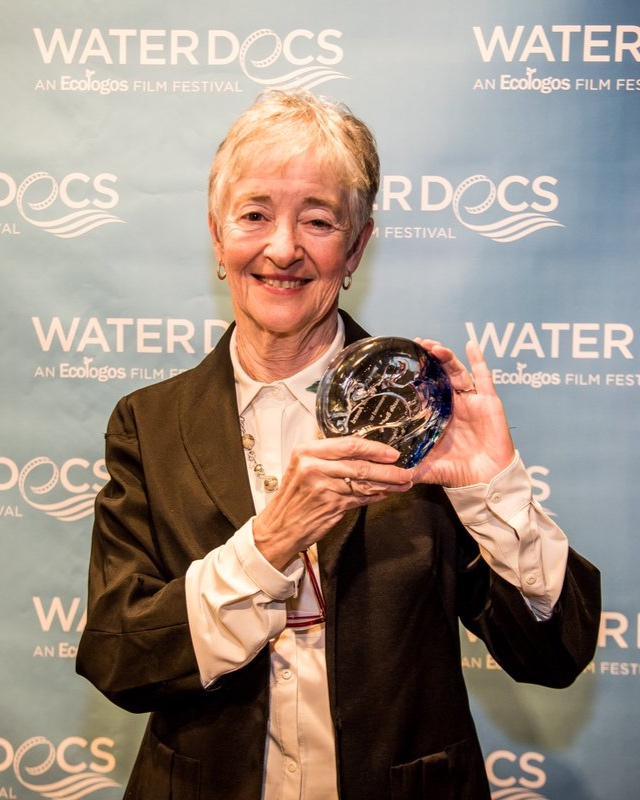 Maude Barlow receives the inaugural Water Warrior Award at the 2018 Water Docs Film Festival