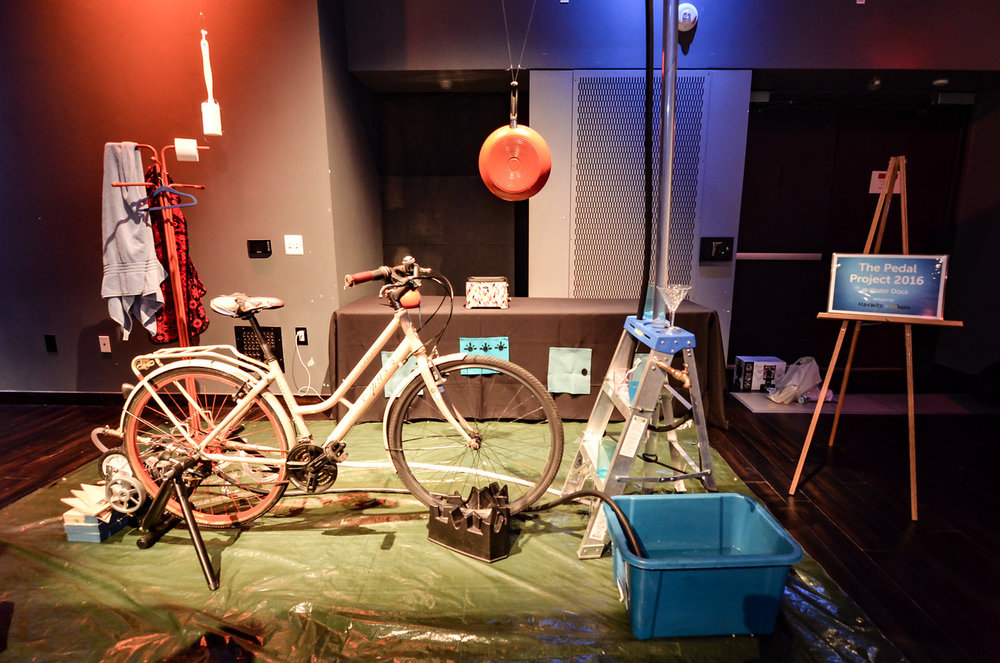 The Pedal Project interactive exhibit at the 2016 Water Docs Film Festival.
