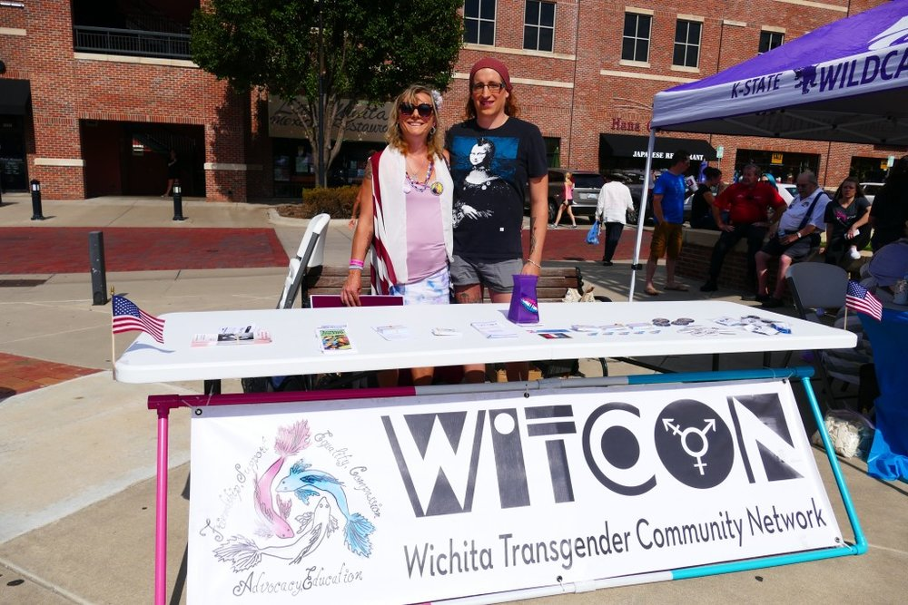 Tabling at Wichita Reproductive Rights rally