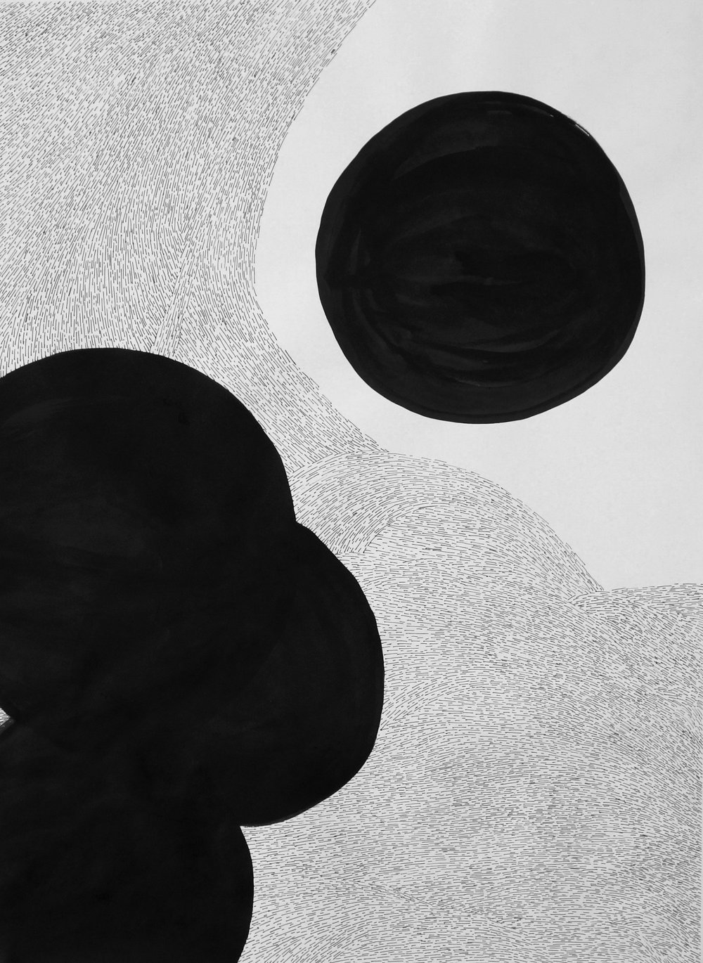 """Implantation  Systems Series - Molecular, 2016  24"""" x 18"""" Ink on paper  ©kellycorrell"""