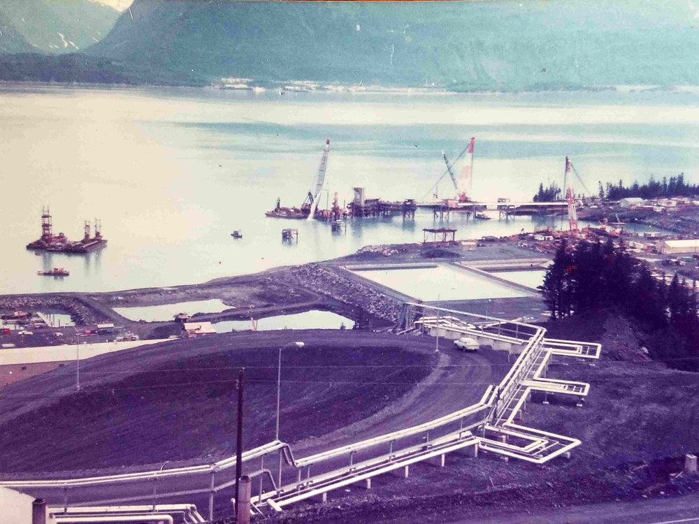 Alyeska Marine Terminal under construction
