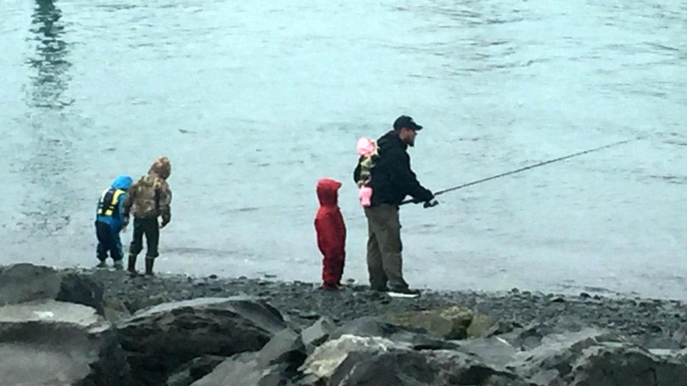fishing red salmon