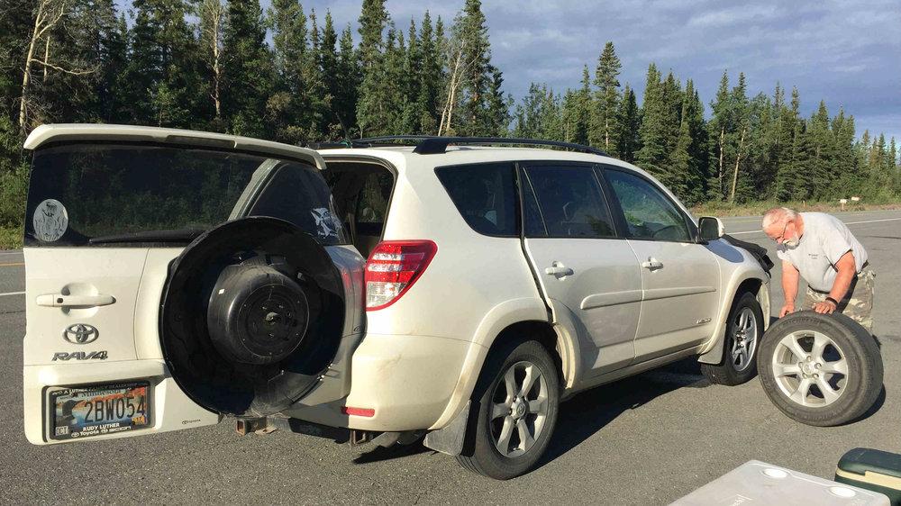 tire change north of Palmer