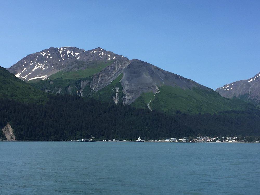Marathon Mountain, behind Seward Alaska