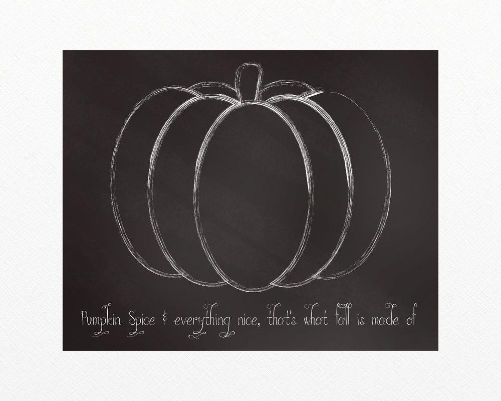 Free Pumpkin Spice Chalkboard Sign