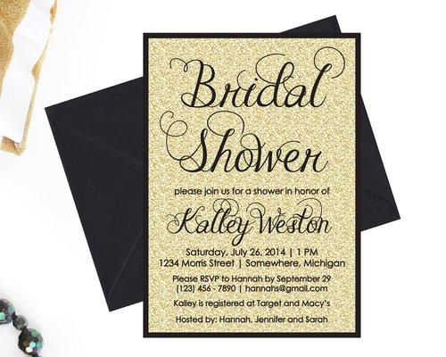 Bridal shower sos party printables gold glitter bridal shower invitation filmwisefo