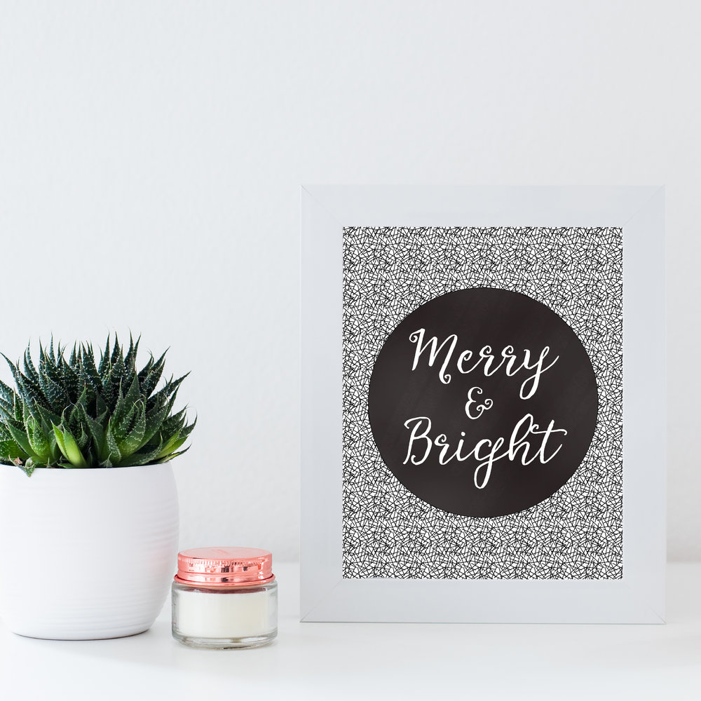"To download the printable simple click on the ""Merry & Bright"" above or click on the image."