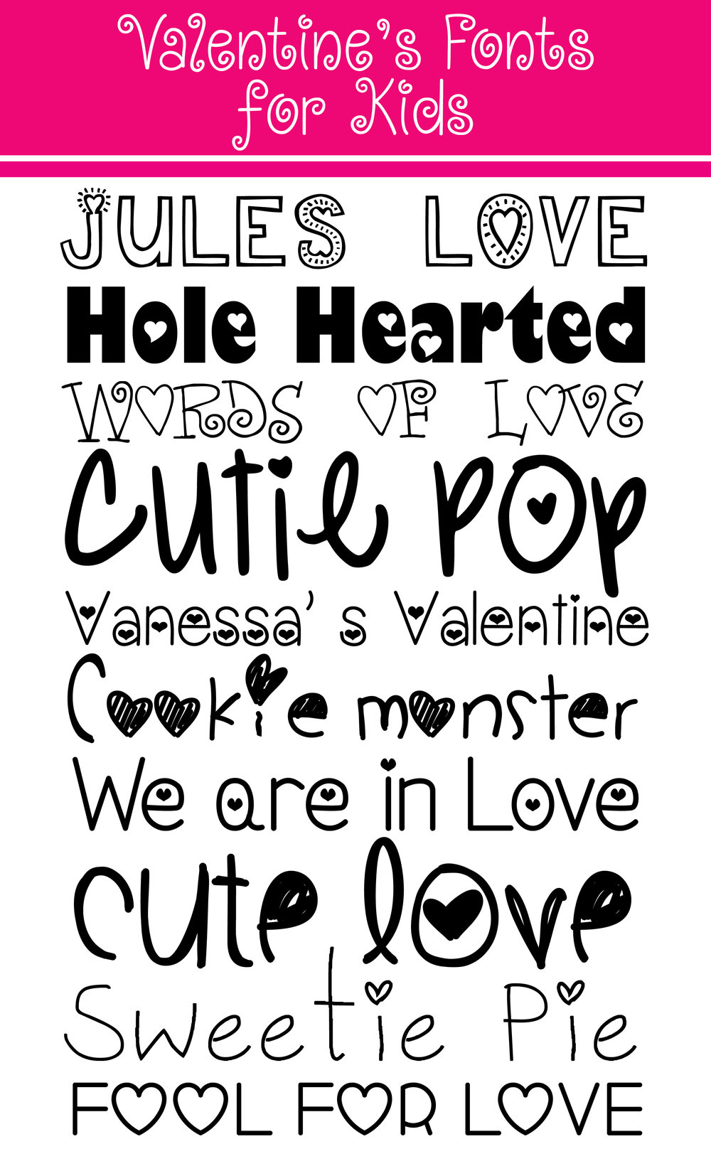 valentine fonts for kids