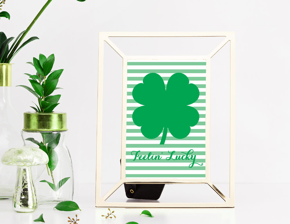 Free Feelin' Lucky St. Patrick's Day Printable