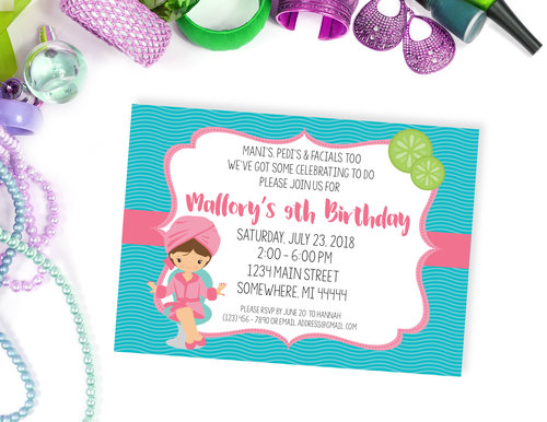 Spa birthday party invitation birthday invitations sos party printables spa birthday party invitation filmwisefo