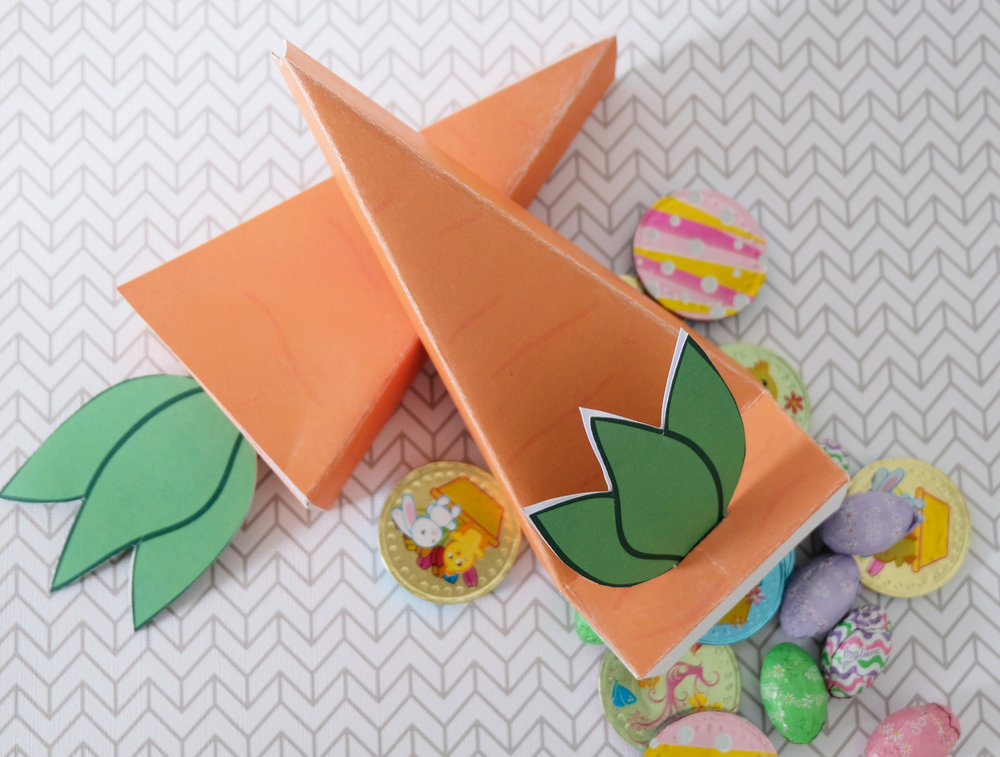 free printable carrot box