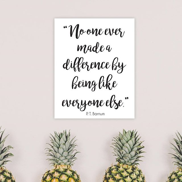 P. T. Barnum - talk about an entrepreneur who wasn't afraid to take a risk and dare to be different! If you haven't seen #thegreatestshowman yet, you really need to!!! BTW - grab this free printable on the blog! #freebie #free #printable #inspirationalquote #ptbarnum #greatestshowman