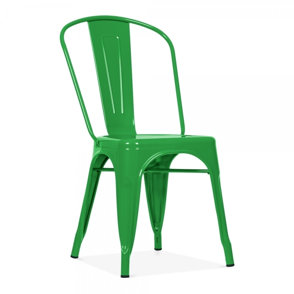 Xavier Pauchard Tolix Style Metal Side Chair - Green