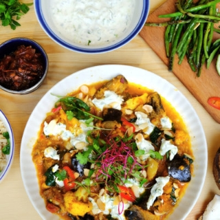 Aubergine and Cauliflower Curry photo courtesy of Tart London