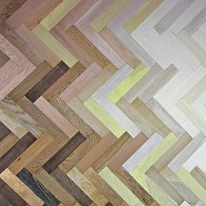 colourful herringbone flooring