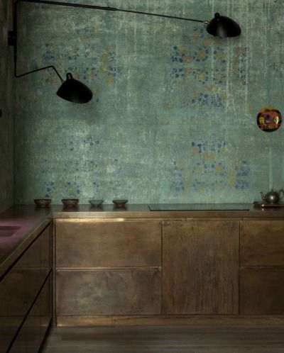 Oxidised metal kitchen
