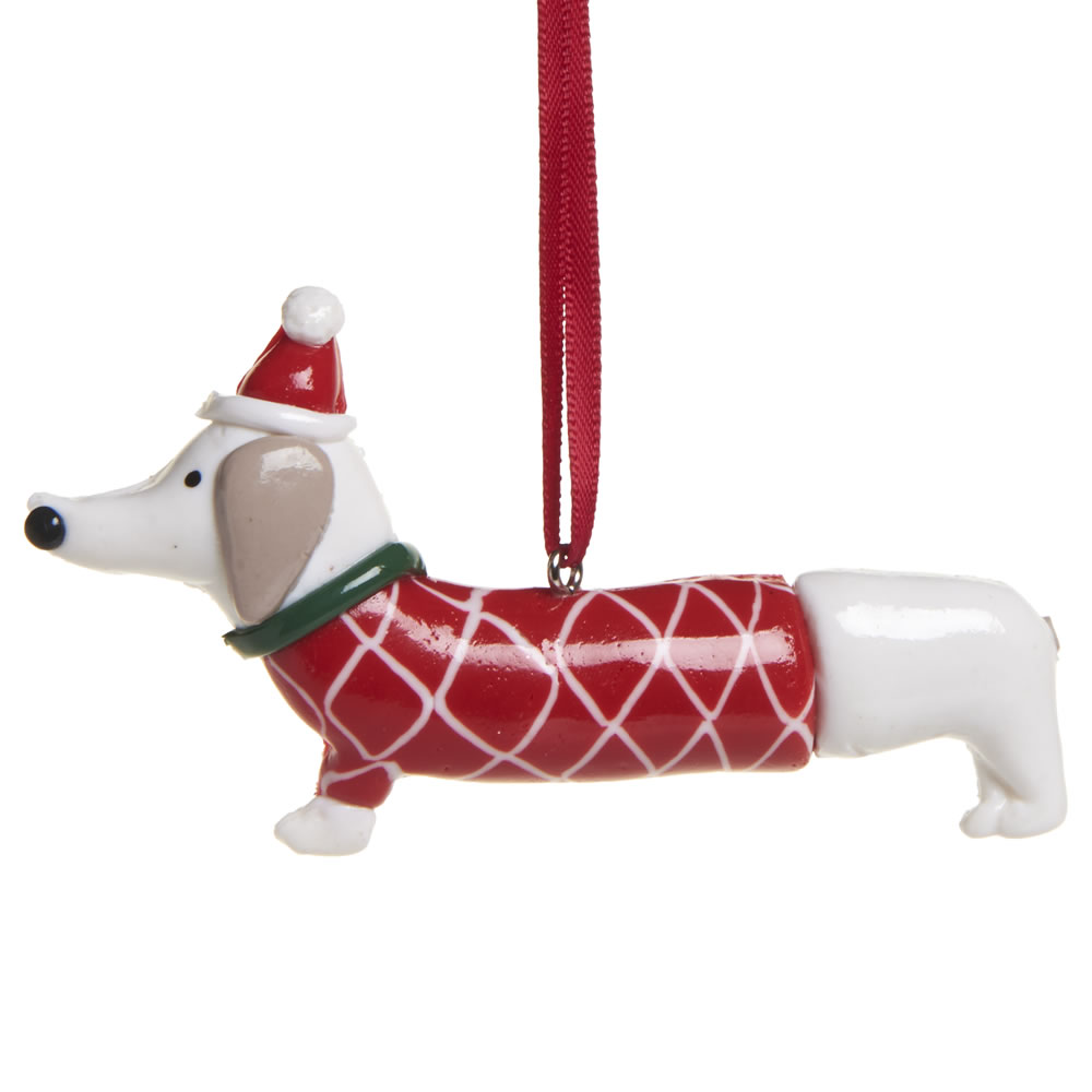 wilko nordic country dough sausage dog tree decorationjpg