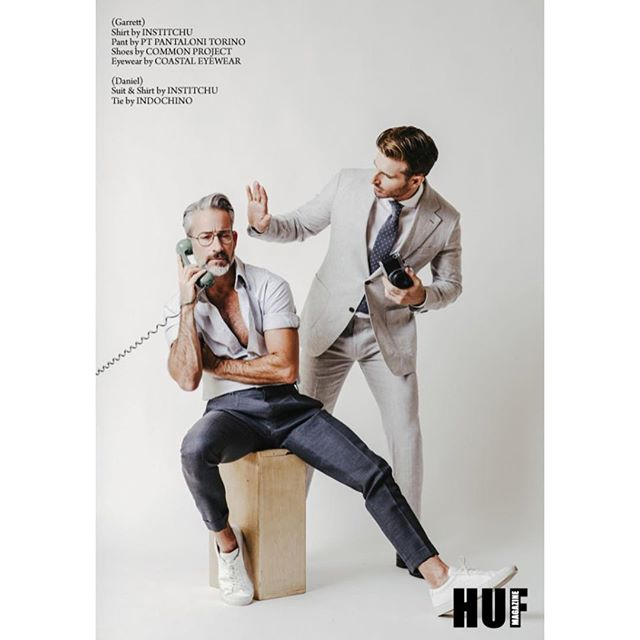 Role Play | @hufmagazine online (www.hufmagazine.com)  See more at http://hufmagazine.com/role-play-photography-by-sam-waxman-for-huf-magazine/  Photographer: @wamsaxman Stylist: @igeeokafor Photography assistant: @tkbrock Models: @thegarrettswann @dottavio77 @ Bella Agency NYC  #roleplay #model #photographer #relationship #style #studio #hufmagazine #hufmag #suit #connection #publication #friday #editorial #creative #fashion #hollywood #neckties #denim #love