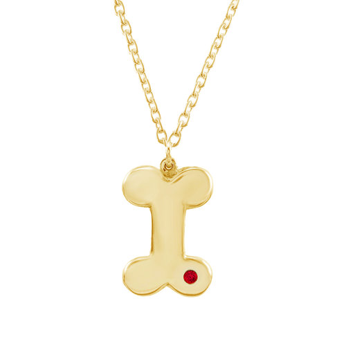 Gold inset dog bone necklace global guardian designs gold inset dog bone necklace aloadofball Images