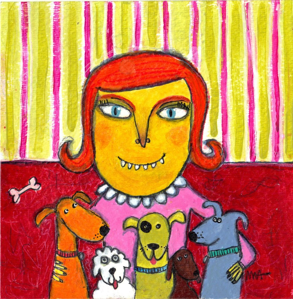 She Preferred the Company of Small Dogs
