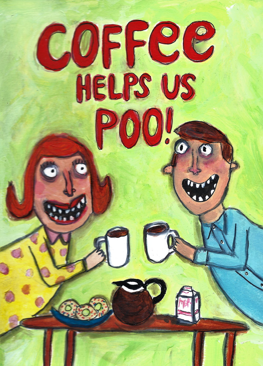 Coffee Helps Us Poo!