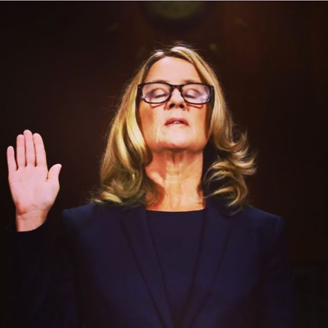 Hold your head high, like Dr. Ford. No matter what happens tomorrow, WE stand with women and WE reject Kavanaugh, a sexual predator, to be Supreme Court Justice. We never truly lose until we decide we have. #DrBlaseyFordDay