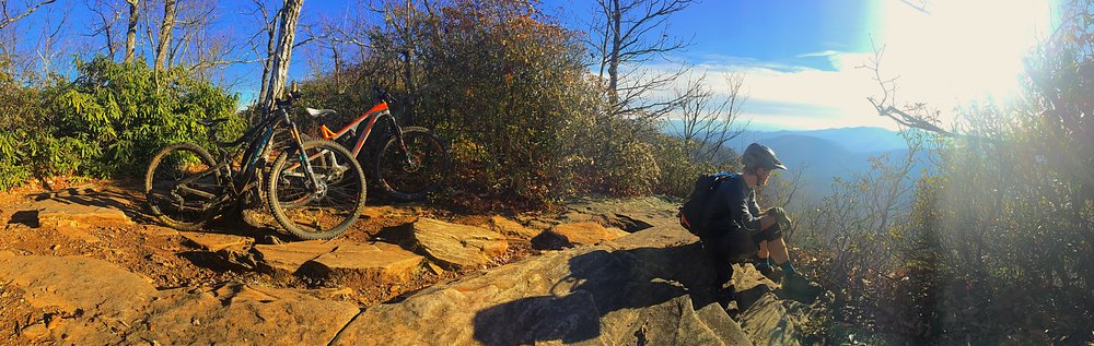Sometimes December can offer up some of the best riding conditions you'll find all year!  This bluebird day on Black Mountain Trail in Pisgah was a perfect example!