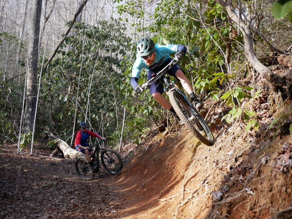 This is one of my favorite sections of mountain bike trail in Pisgah.