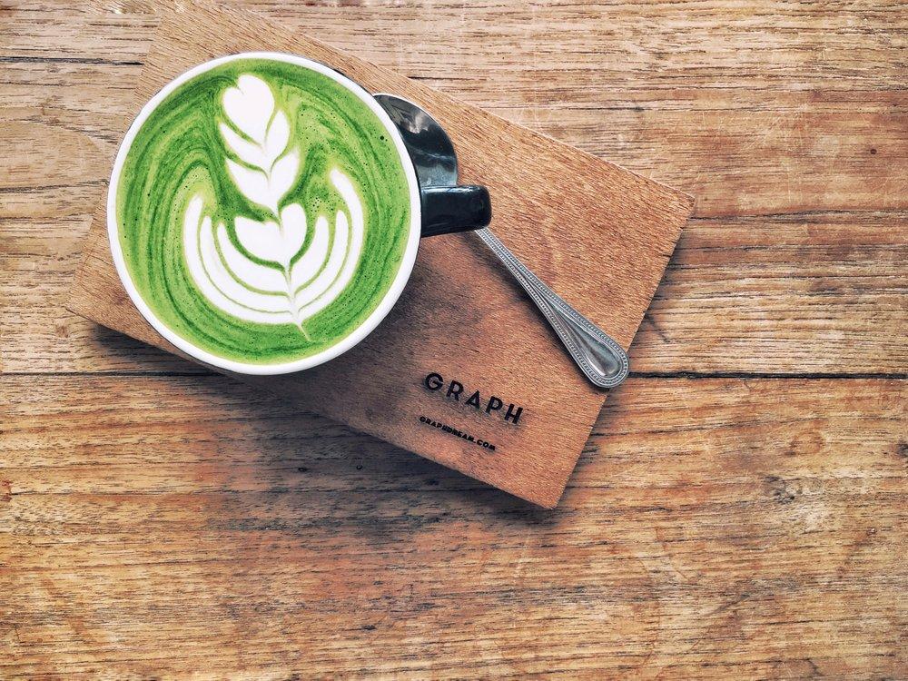Matcha Cappuccino at Graph Cafe