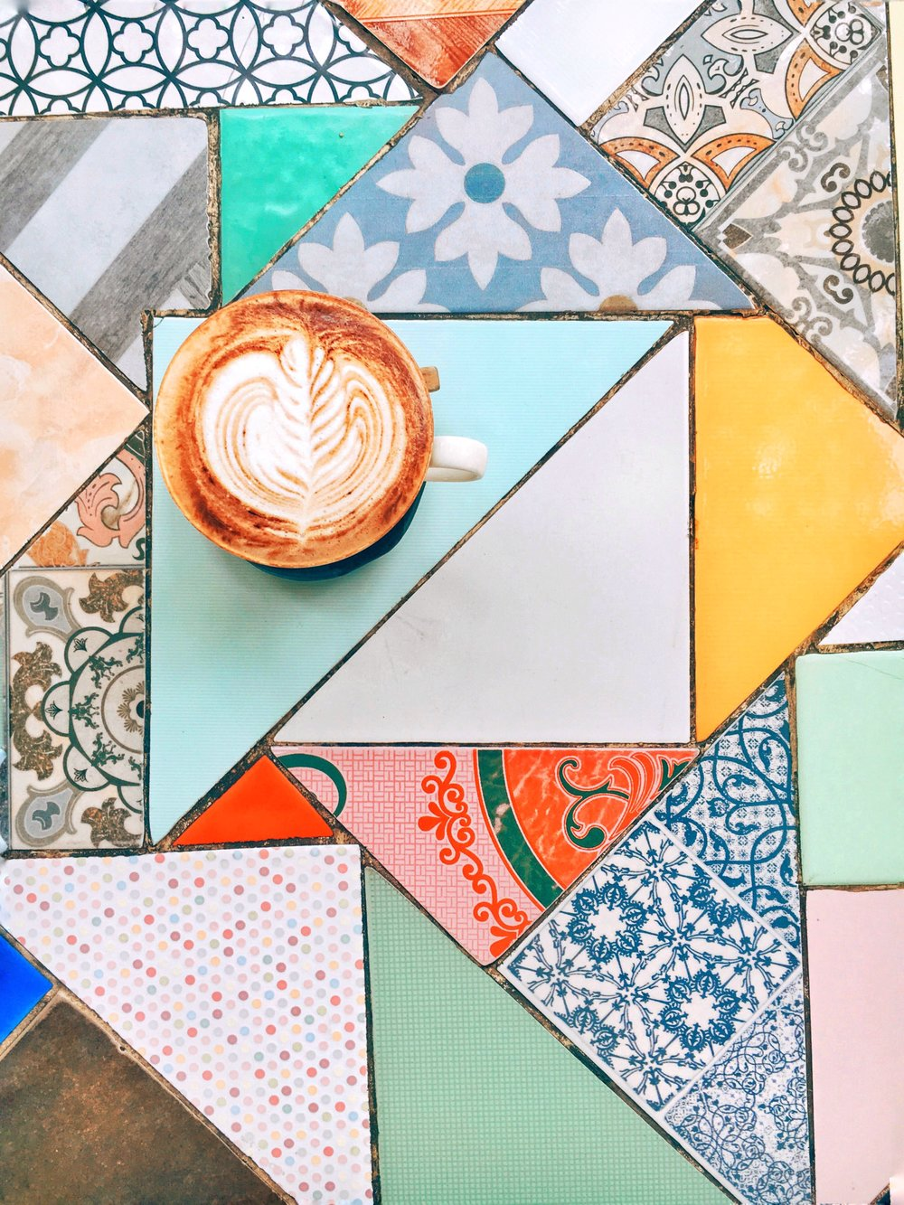 Color tiles and cappuccinos at SS1254372 Cafe