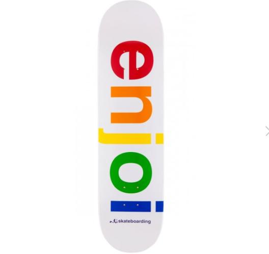 Rainbow skateboard deck Via  CCS.com !
