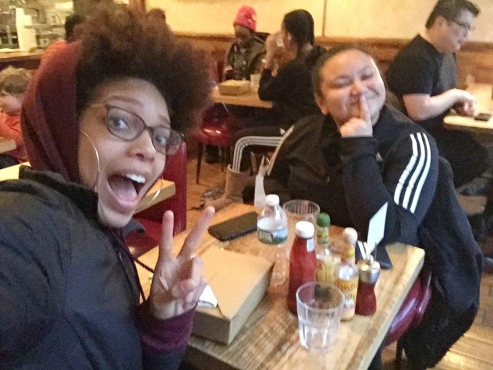 Beatriz Kaye And Latiana Blue Having Lunch In Bed-Stuy, Brooklyn