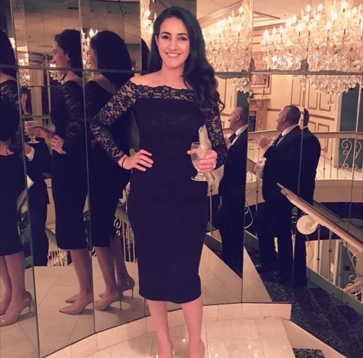 Mariam all dressed up! Photo via  Instagram .
