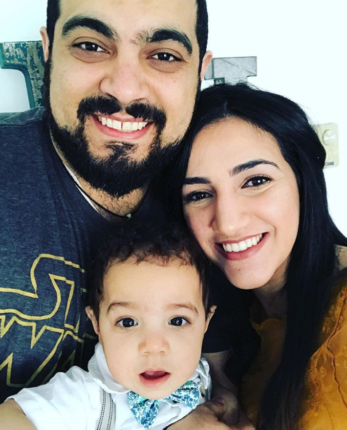 Mariam, her husband, and son! Photo via  Instagram .