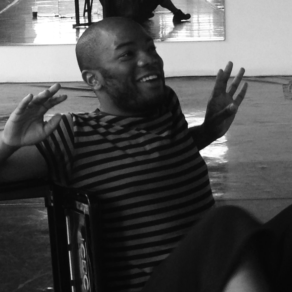 Cameron-Mitchell Ware in rehearsal for BODY Play, 2015