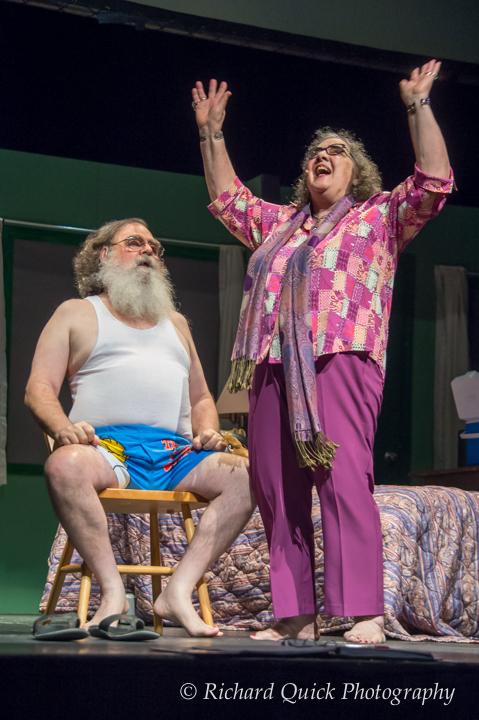 Hallelujah, he is RISEN! (Carmen rejoices when the little blue pill works on Phil.)