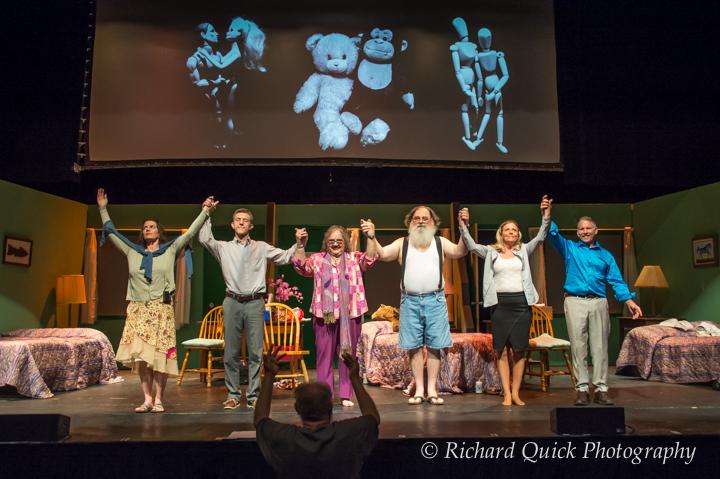 Ensemble Curtain Call, including the naughty dolls created by John Rankine.