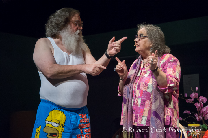 Chuck Landis as Phil and Sandra CH Smith as Carmen