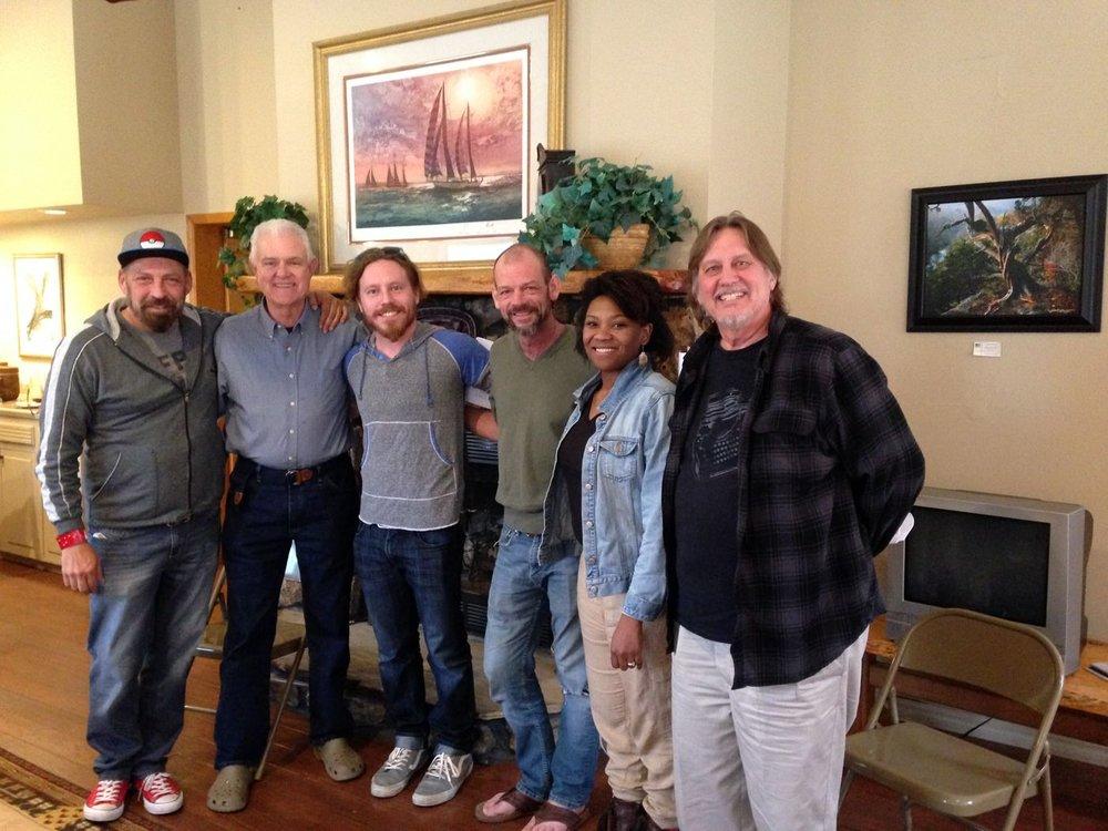 Wayne with cast.JPG