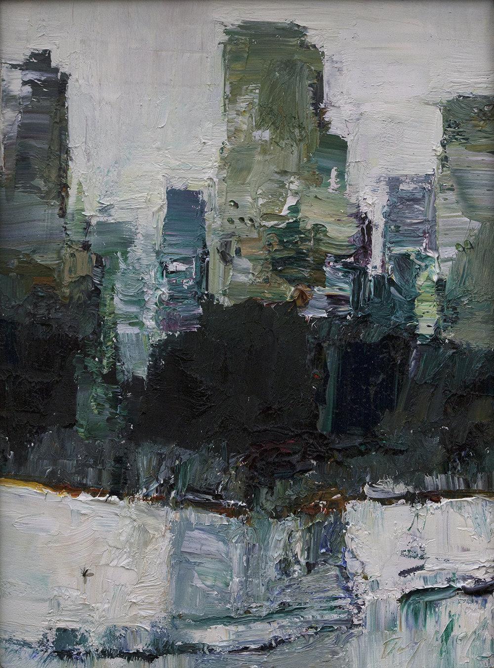 """Metropolis"" 8x6in, 20x15cm oil on panel"